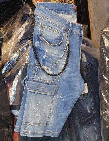 short Jeans distressed for men Model 1